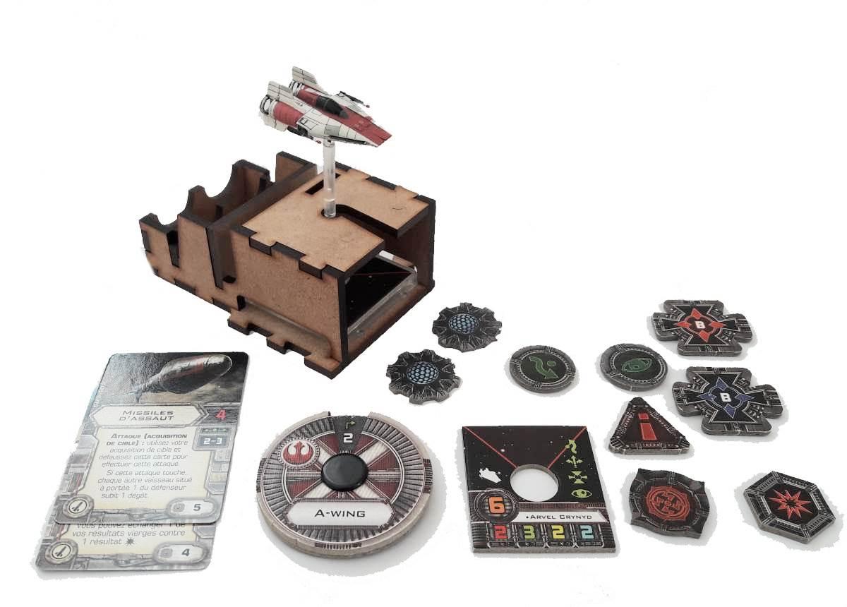 Boite de rangement pour figurines X-Wing